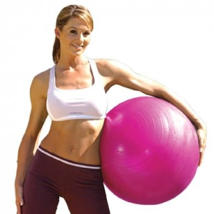 Tone Fitness 55cm Anti-burst Stability Ball - Pink