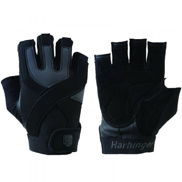 Harbinger Men's Training Grip Gloves - Black/Gray