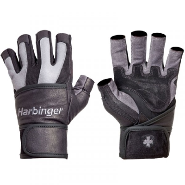 Harbinger Men's BioFlex Wrist Wrap Lifting Gloves - Gray/Black