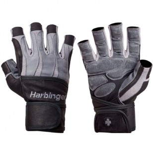 Harbinger Men's BioForm Wrist Wrap Glove - Gray